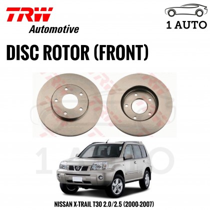 TRW FRONT BRAKE DISC ROTOR for NISSAN X-TRAIL T30 (2000-2007) (2 PIECES)