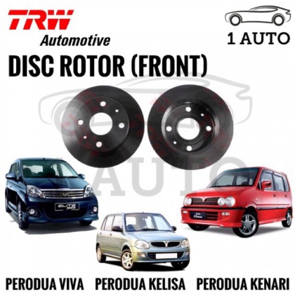 TRW FRONT BRAKE DISC ROTOR for PERODUA KELISA, KENARI, VIVA (1 PAIR)