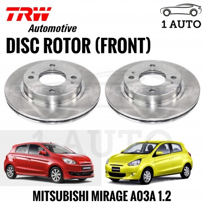 TRW FRONT BRAKE DISC ROTOR for MITSUBISHI MIRAGE A03A 1.2 (1 SET)