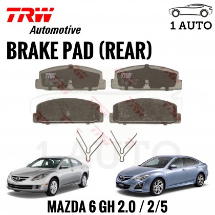 TRW REAR BRAKE PAD for MAZDA 6 GH 2.0 / 2.5 (2007-2013)
