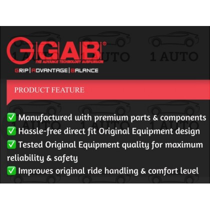 GAB SUPER PREMIUM SHOCK ABSORBER (REAR = BELAKANG) for PERODUA AXIA 1.0 BEZZA 1.0 1.3